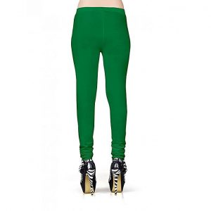 Cotton Leggings For Women's Green