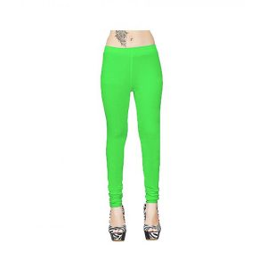 Cotton Leggings For Women's Light Green