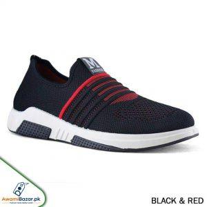 Stylish Black & Red Sneaker