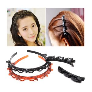 Fashion Double Layer Band Twist Front Hair Claw Clips 400+200 DELIVERY CHARGES