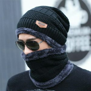 Men Knit Hat & Neck warmer Winter Cap 1000+200 DELIVERY CHARGES