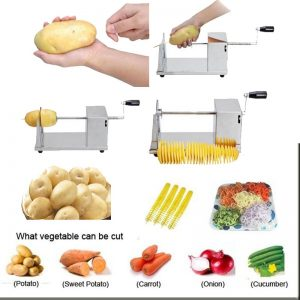 Stainless Steel Manual Spiral Potato Slicer(GM) 2800+200 Delivery Charges